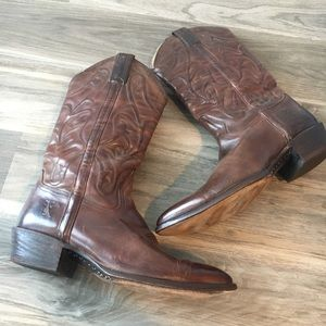 MEN'S FRYE SIZE 11.5 D BROWN COWBOY BOOTS TALL